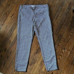 Women's black/white pattern pointe/ ankle pants